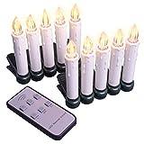 Baumbeleuchtung kabellose Christbaumkerzen 10 LED warmweiß Fernbedienung Batterie dimmbar Funktionen Weihnachtsbaumlichter Weihnachtsdeko