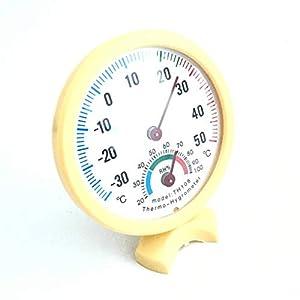 Zerama Thermomètre intérieur Multifonctionnel hygromètre température hygromètre Intérieur Chambre bébé