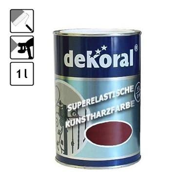 1 Dose Lack Farbe speziell für Metall dunkel rot 10 m² rotbraun Metallbauteile von DEKORAL - TapetenShop