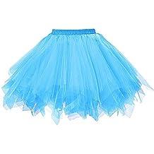 Midi Jupe pour Femmes, Manadlian Tutu Robe Rétro Style Année 50 Vintage en  Tulle Elastique 5be03a932bb1