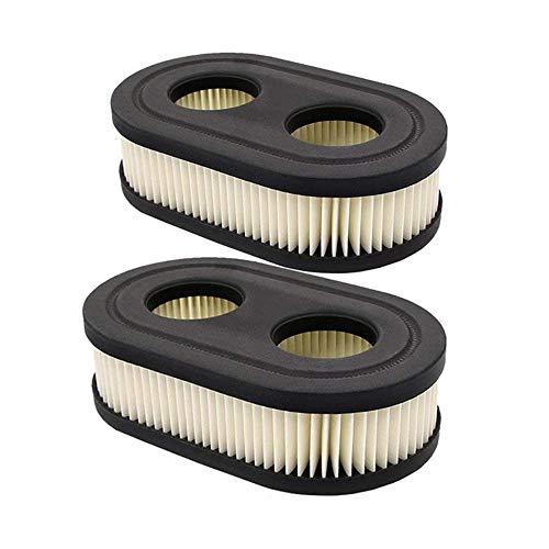 OxoxO 2pcs Oval Air Filter Cartridge for Troy-Bilt TB110 TB115 TB200 TB230 TB330 Walk-Behind Lawn Mower MTD Yard Machines Murray Craftsman