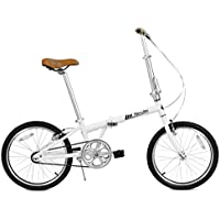 FabricBike Folding Bicicleta Plegable Cuadro Aluminio 3 Colores (Matte White & Black)