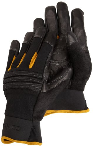 Carhartt Men's Winter Dex Kevlar Reinforced Spandex Work Glove, Black, Large -