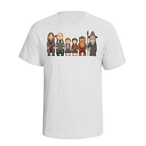VIPwees Heroes of the fantasy rings Mens Herren Caricature Film T-shirt