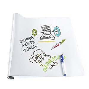 rabbitgoo tableau blanc adh sif ardoise murale sticker grand format feutre effa able papier. Black Bedroom Furniture Sets. Home Design Ideas
