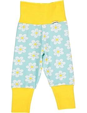maxomorra Baby Mädchen Hose Blumen FLOWER Hellblau/Gelb
