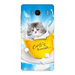 Coffee Kitty Back Case Cover for Redmi 2 Prime