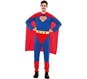 Fyasa 830645-t04Super Hero disfraz, tamaño grande