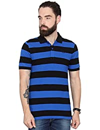 Blue and Black Striped T-shirt by Urban Nomad