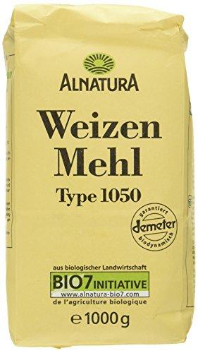 Alnatura Demeter Bio Weizenmehl, Type 1050, 6er Pack (6 x 1 kg)