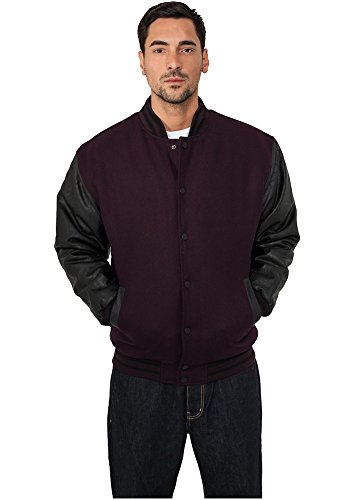 TB103 Half-Leather College Jacket Herren Outdoor Jacke - 3