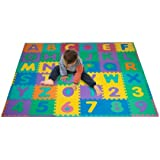 Foam Floor Alphabet and Number Puzzle Mat for Kids, 96-Piece