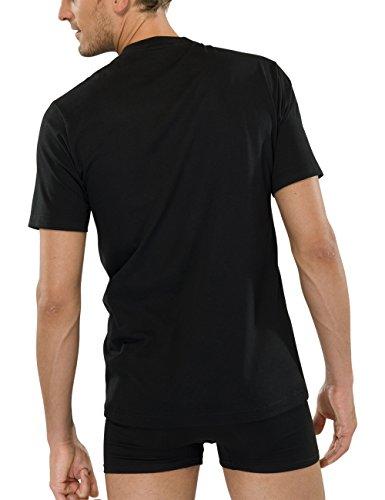 Schiesser Herren Unterhemd T-Shirt Schwarz (000-schwarz)
