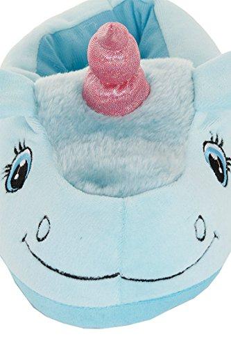Kenmont Einhorn Plüsch Pantoffeln Unicorn Hausschuhe Spielzeug Tier Pantoffel Schuhe für Erwachsene|Weihnachtsgeschenk|Geschenke Blau