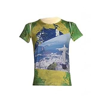 T-Shirt Du Brésil Rio - VERT, XL