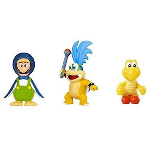 Nintendo - Figura Larry Koopa, Penguin Luigi, Red Koopa Troopa, 2 cm