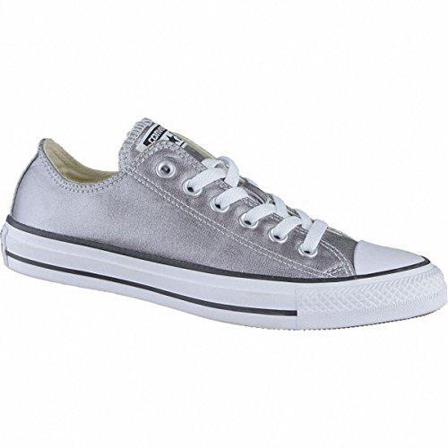Converse Unisex-Erwachsene Seasonal Metallic Sneaker, Mehrfarbig (Gunmetal/White/Black), 37.5 EU (Damen Converse All Silber Star)