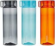 Amazon Brand - Solimo Water Bottle Set (3 Pieces, 800ml, Multicolor)
