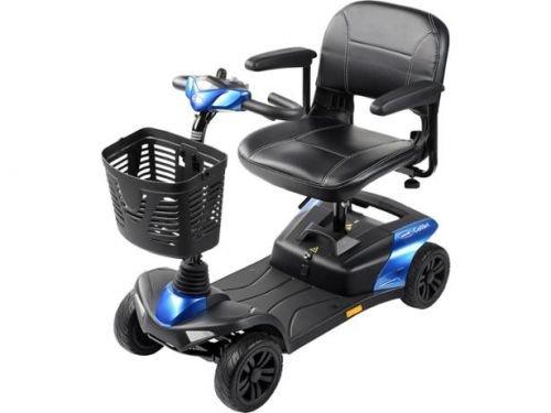 Invacare Colibri Scooter 6 km/h Reise-Scooter kompakt und schnell zerlegbar für Kofferraum Farbe rot