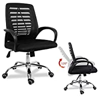 EUCO Desk Chair Computer Office Chair Ergonomic Comfy Mesh Chair Adjustable Padded Swivel Chair In Black/Grey/Blue/Green/Red