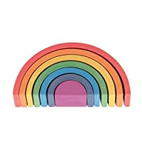 TickiT Wooden Rainbow Architect Arches - Nesting Puzzle - Stacking Blocks for Ages 12M+.