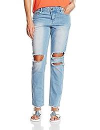 Vero Moda Vmten Lw Regular Sideseam Ankle, Jeans Femme