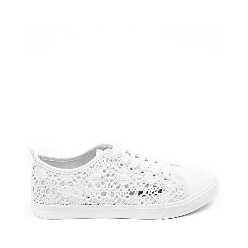 Ideal Shoes, Damen Sneaker Weiß Ideal Shoes, Damen Sneaker Weiß ...