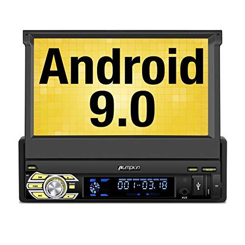 Pumpkin Android 9.0 Autoradio 1 DIN Radio para Coche soporta GPS Navegador,...