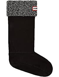 6 Stitch Cable Boot Sock - Black/Grey