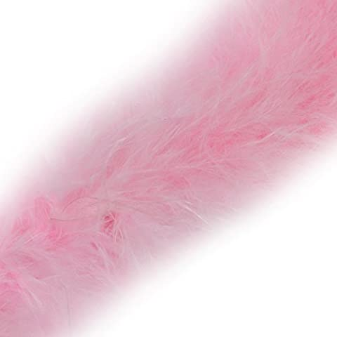 1 Metre - Marabou Swansdown Feather Trim Soft & Fluffy Craft - Choose Colour (Baby Pink (Salmon))