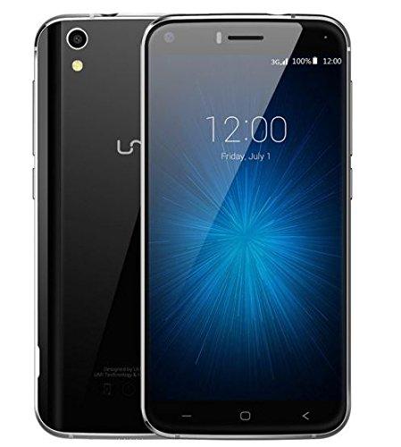 Neu veröffentlicht UMI LONDON Rugged stoßfest Android 6.0 3G Smartphone - Sturz- Doppelglasschutz mit Metallrahmen mit 1,3 GHz Quad-Core-8GB 8MP - Schwarz