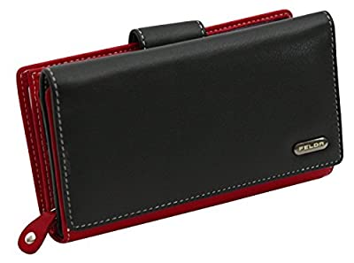 Felda Womens Genuine Soft Leather Clutch Wallet - RFID Protection