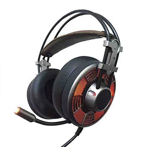 PS4 Gaming Headset, Stereo-Headset Verdrahtetes PC-Gaming-Headset Mit Geräusch Abbruch MIC, Über Ohrkopf Hörer Für PC, Mac, Playstation 4, Xbox 1, Android Und iPhone-Schwarz