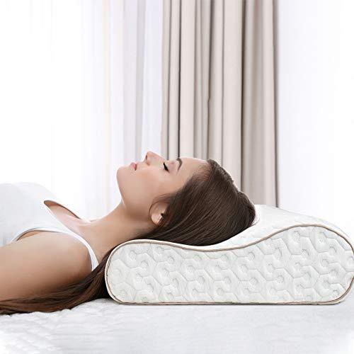 BedStory Oreiller à Mémoire de Forme Amélioré avec Gel Respirant, Oreiller Anti ronflement avec Housse Anti-acarien en Soie Amoivible et Lavable, Idéal pour Douleur Nuque