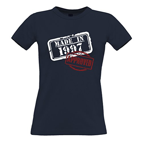 Made In The 1994 Approved Distressed 21 ° compleanno della novità T-Shirt Da Donna Navy blue
