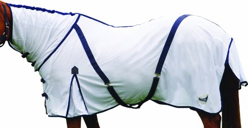 Matchmakers, Coprireni per cavallo, con collo fisso Masta Zing Fly, Bianco (Blanc - blanc), 4,75 piedi