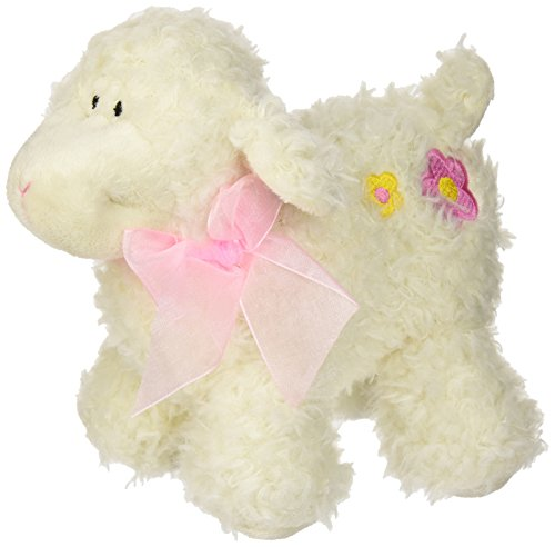 stephan-baby-ultra-soft-sherpa-plush-dimple-lamb-cream-with-pink-bow-by-stephan-baby