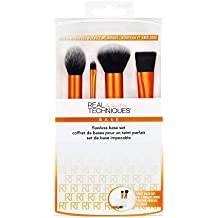 Real Techniques Flawless Base Set de Brochas para Rostro - 1 Pack
