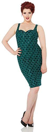 Voodoo Vixen Kleid FLEUR DRESS 8126 Grün S