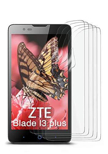 5X ZTE Blade L3 Plus | Schutzfolie Matt Bildschirm Schutz [Anti-Reflex] Screen Protector Fingerprint Handy-Folie Matte Bildschirmschutz-Folie für ZTE Blade L3 Plus Bildschirmfolie