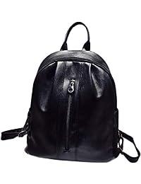 ♥Tensay♥ Mochila con Cremallera Color Sólido de Moda para Mujer,Bolsa de Estudiante