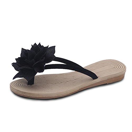 JRenok Damen Flip Flops Pantoffeln Anti-Slip Slip auf Dressy Thongs Sommer Strand Casual Flat Sandalen (Kette Thong Kette Sandale)