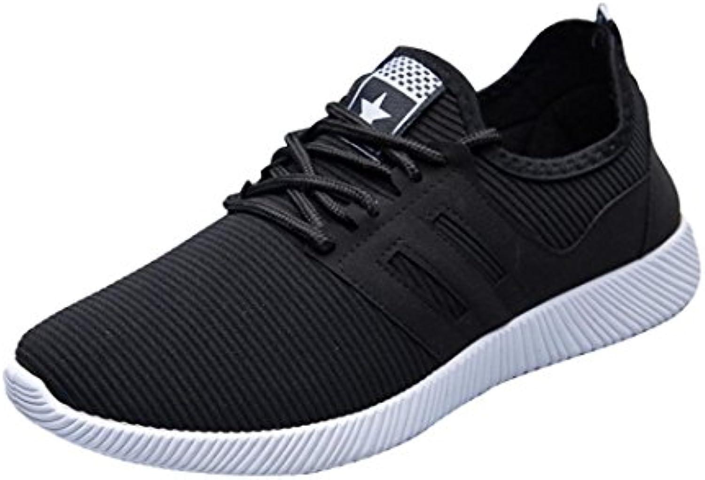 Lazzboy Herren Mode Schnuumlrsenkel Einfarbig Streifen Casual Gym Schuhe Laufschuhe