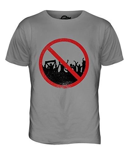 CandyMix Agorafobia T-Shirt da Uomo Maglietta Grigio chiaro
