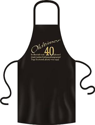 bedruckte Geburtstag Grillschürze Oldtimer 40 Jahre Geschenk Grill Schürze Kochschürze Latzschürze Partyschürze Küche