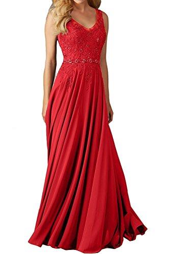 CLLA dress Damen Abendkleider Für Hochzeit Elegant Applikation Brautjungfer Kleider Ballkleider(Rot,34) (Cinderella Handgefertigtes Kleid)
