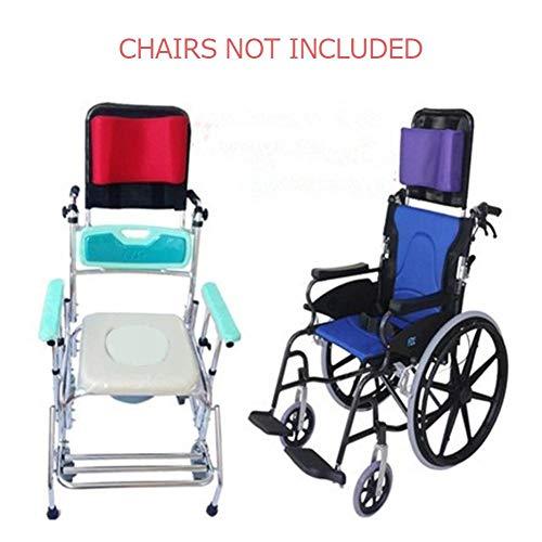 41Ifr6JJ34L - Juanya Almohada ajustable para reposacabezas de silla de ruedas con tubo de mango trasero, soporte para el cuello de 16 a 20 pulgadas, color negro