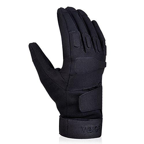 Vbiger Outdoor Sport Fahrradhandschuhe Mountainbike Handschuhe Motorradhandschuhe (Schwarz, XL) - 3