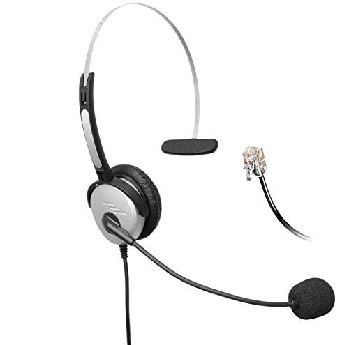 4call h500mc RJ Mono Headset-Telefon mit Schnur mit Mikrofon mit Geräuschunterdrückung, für Aastra ShoreTel Nortel Cisco E20Polycom 335vvx400Digium D40D70AltiGen 500720/Comdial/Starleaf, IP-Telefone -