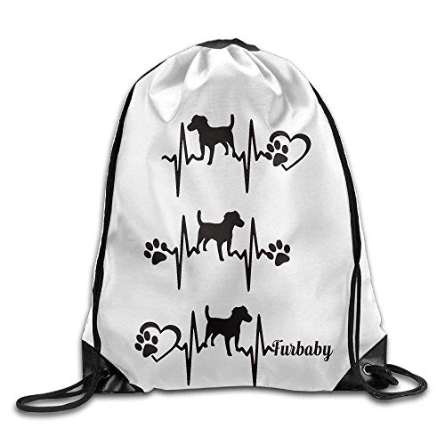 Louis Vuitton Duffle Bag (Dog ECG Gym Drawstring Backpack Unisex Portable Sack Bag)